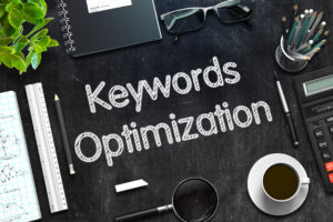 using keywords in page content
