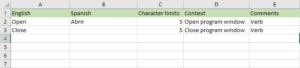 Trados Tips: Bilingual Excel example
