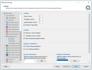 Trados Tips: Bilingual Excel settings