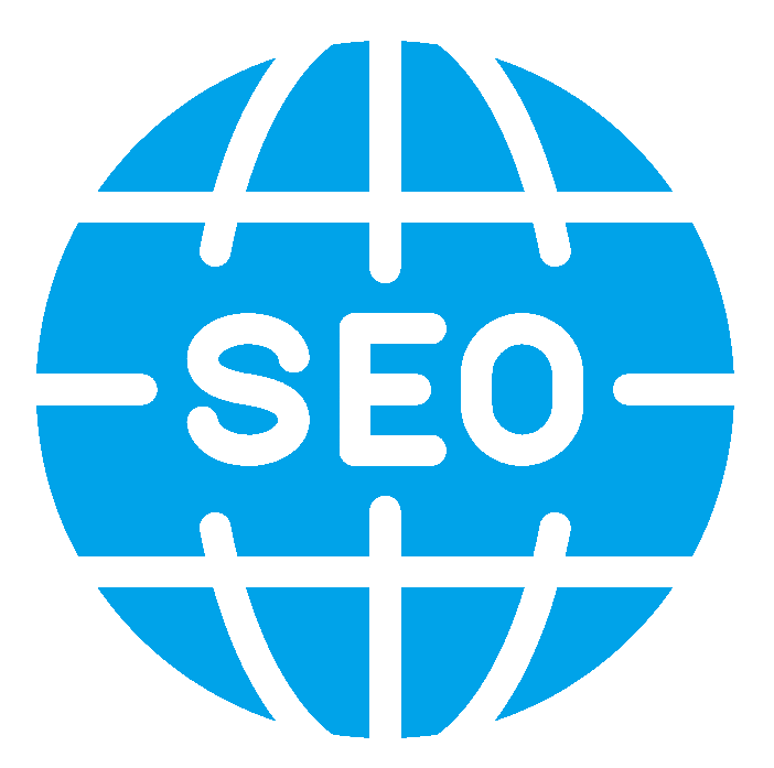 Icon of blue globe with SEO written on its centre.
